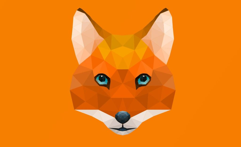 SVG Animated Low Poly Fox