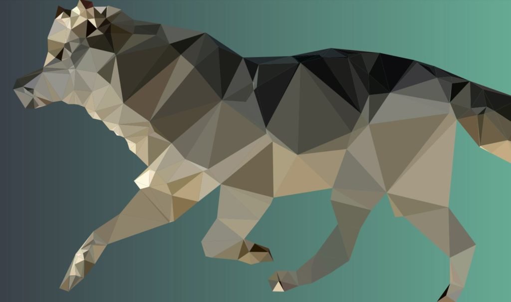 SVG Animated Low Poly Wolf