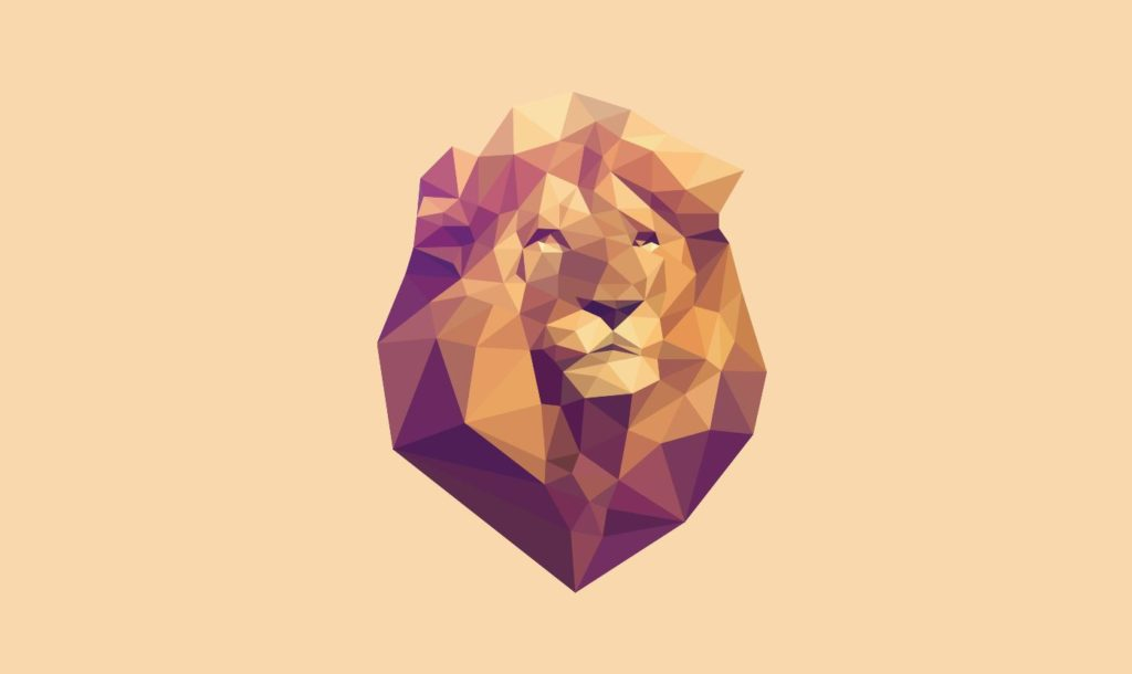 SVG Animated Low PolyLion