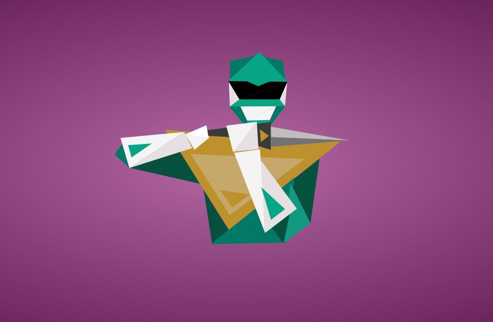 SVG Animated Morphin PT2 - Green Ranger