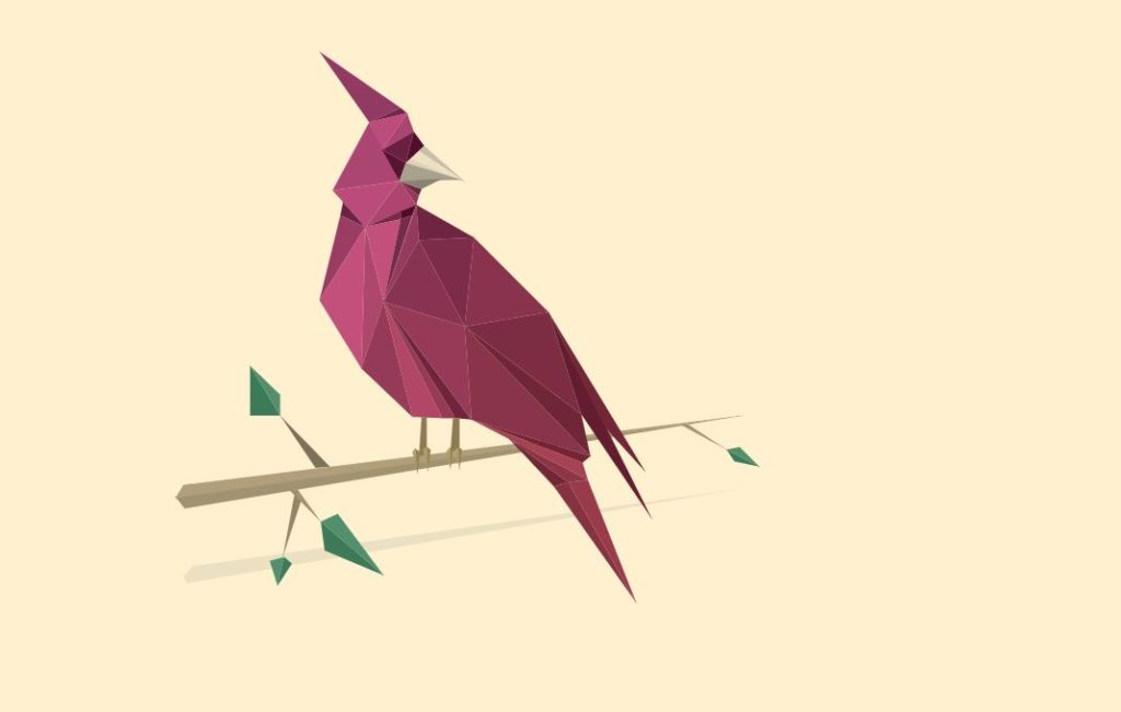 SVG Animated Poly Bird Purple
