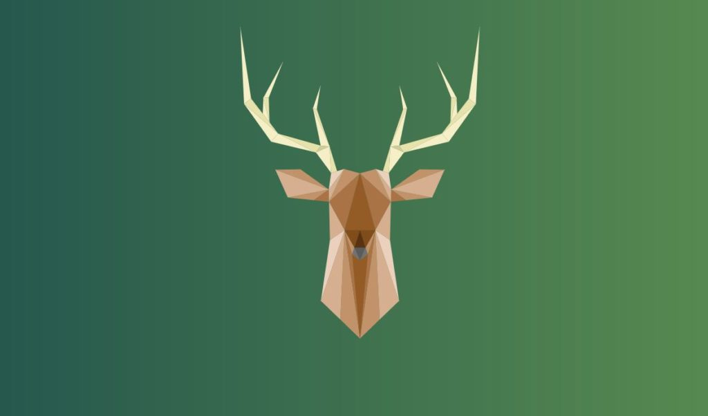 SVG Animated Poly Deer