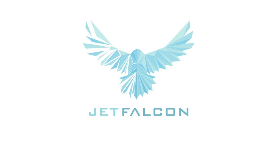 SVG Animated Poly JetFalcon Logo