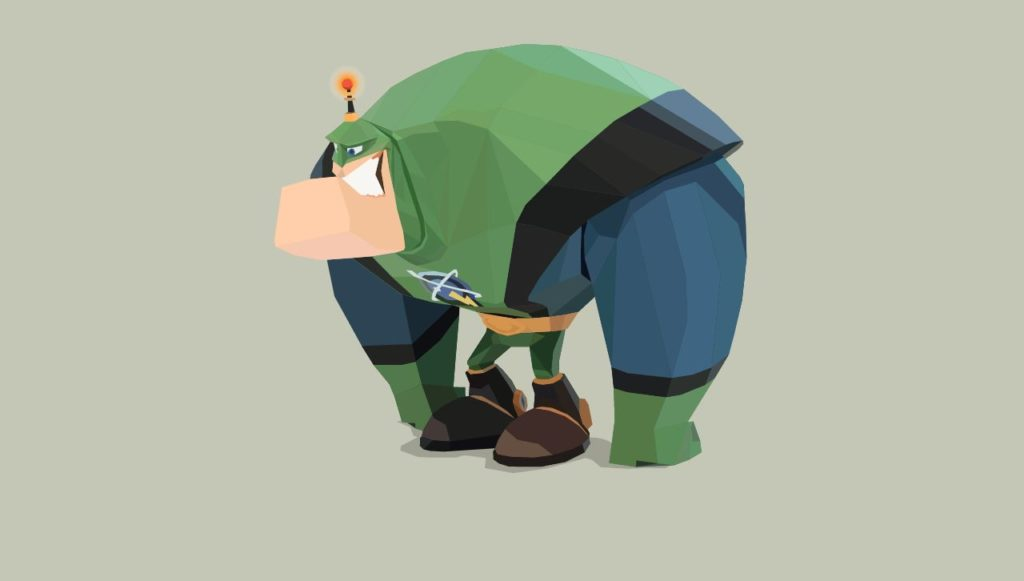 SVG Animated Poly Ratchet and Clamk's Captain Qwark