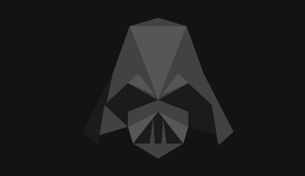 SVG Animated Poly Star Wars