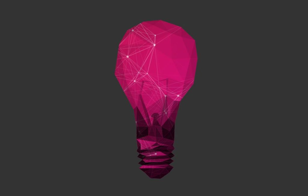 SVG Animated Polygon LightBulb