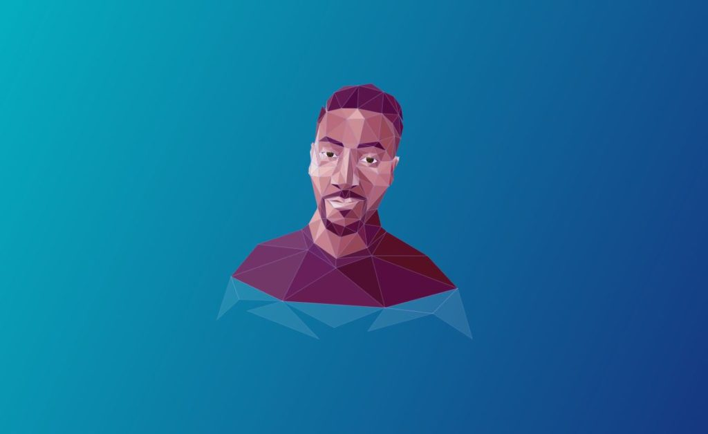 SVG Animated Polygon Portrait