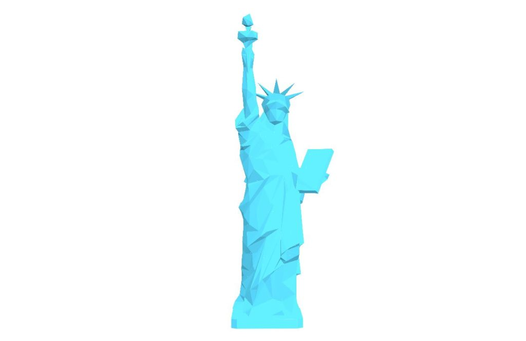 SVG Animated Polynode Statue of LIberty