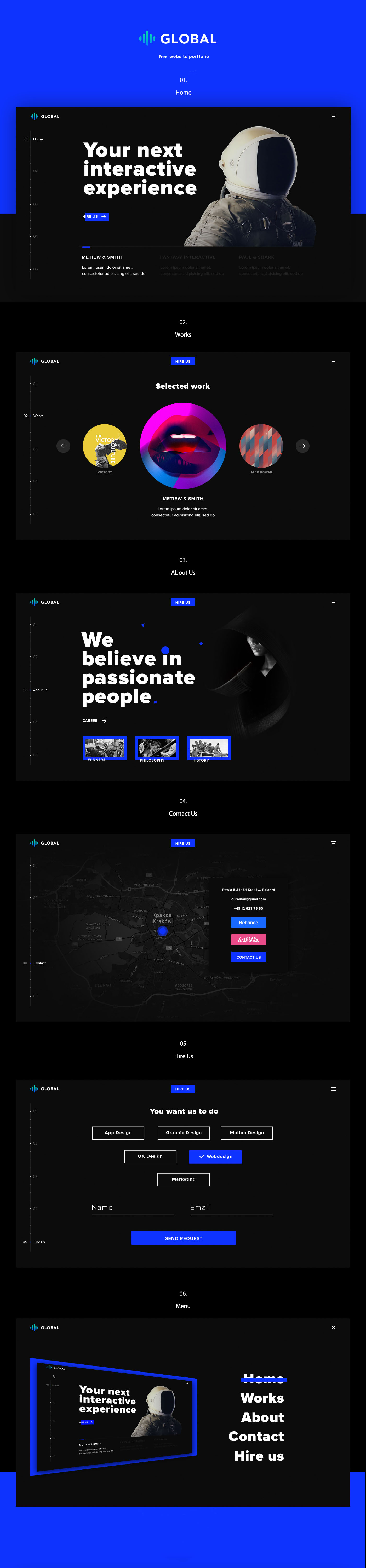 Global Free Portfolio Website Template